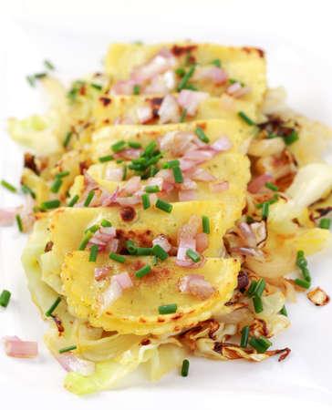 pierogi: Pierogi - dumplings of unleavened dough with sauerkraut