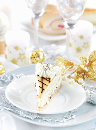 cake balls: Traditional marchpane cream cake for Christmas