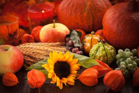 thanksgiving cornucopia: Still life for Thanksgiving