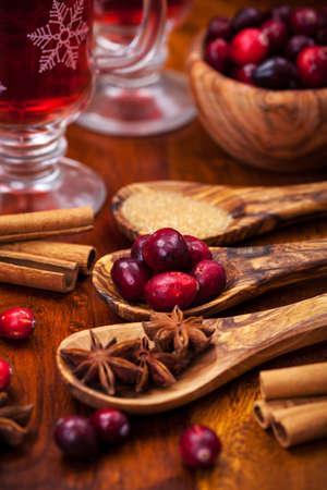 Preparing cranberry hot mulled wine Stock Photo - 16435944