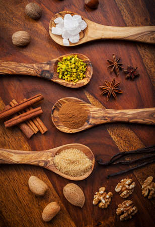 Aromatic baking ingredients for Christmas cookies