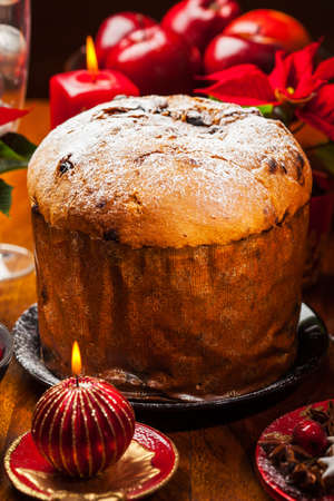 Panettone - traditional Italian Christmas cake Stock Photo - 16643061