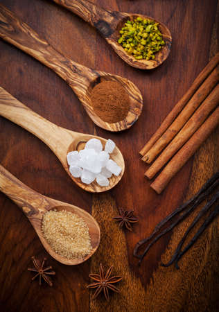 Aromatic food ingredients for baking Christmas cookies