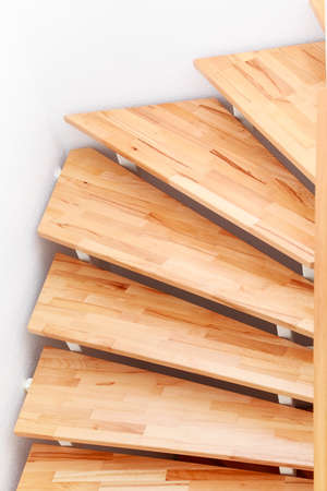 Staircase detail in modern family house - top view photo