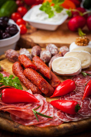 Catering platter with antipasti and fingerfood photo