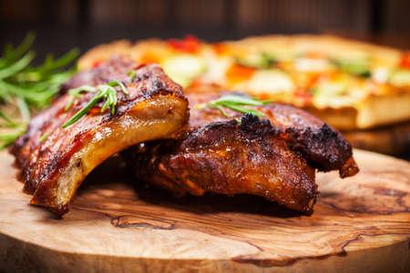 BBQ spare ribs met kruiden
