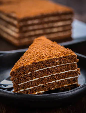 Delicious chocolade  honey cake