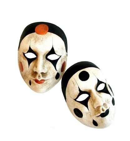 mascaras de carnaval: Dos m�scaras de carnaval veneciano