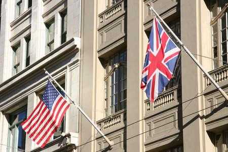Allied Flags Reklamní fotografie