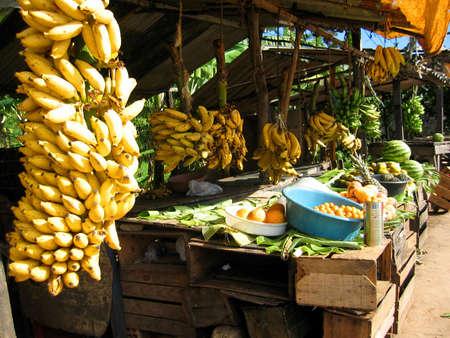 Brazilian Banana Stand Stock Photo