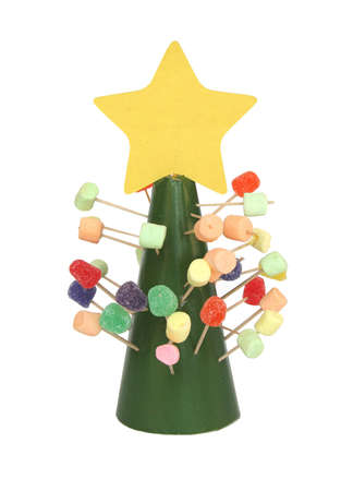 Candy Christmas Tree Stock Photo