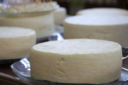 Traditional cheese from the state of Minas Geras in Brazil.