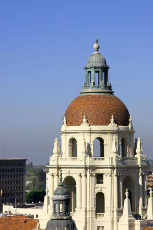 The domed tower of the Pasadena City Hall.