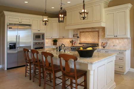 A newly remodeled modern, luxury kitchen - horizontal. photo