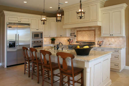 custom home: A newly remodeled modern, luxury kitchen - horizontal.