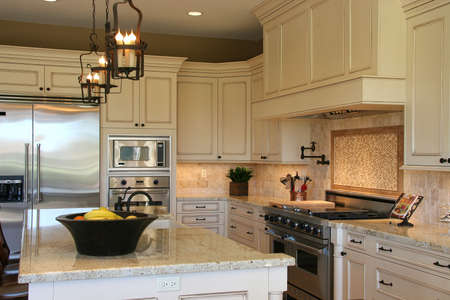 A newly remodeled modern, luxury kitchen - horizontal 2. photo