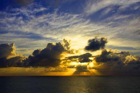An ocean sunrise. Stock Photo