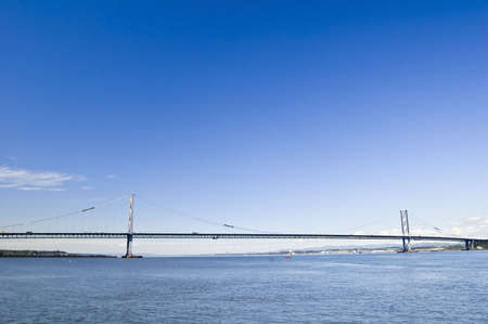Forth Road Bridge, Scotland with plenty of space for text photo