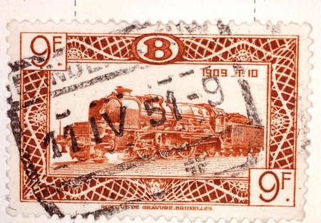 Vintage Belgian Postage Stamp