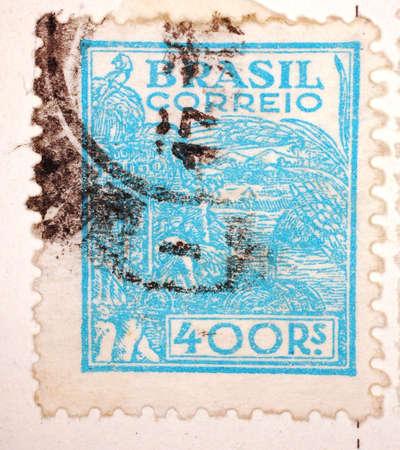 Vintage Brazilian Postage Stamp