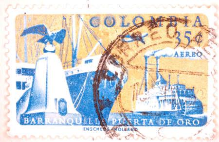 Vintage Colombian Postage Stamp