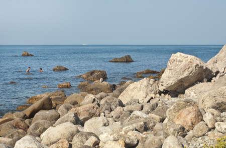 Beautiful coastal scenery of Cape Aya, Crimea  Stock Photo