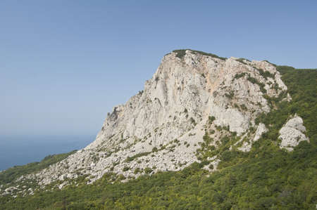 Epic view of mountain scenery on the southern Crimean coast, Ukraine  Stock Photo