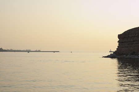 Sunset by cliffs near Sevastopol in Crimea, Ukraine Stock Photo
