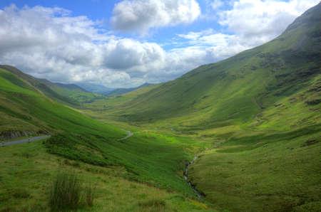 Newlands Pass, Lake District Stock Photo