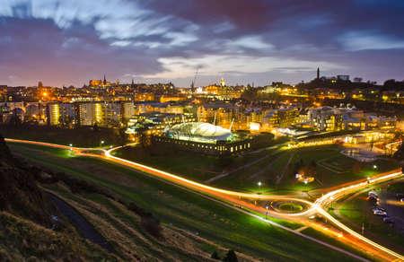 Edinburgh Twilight Cityscape