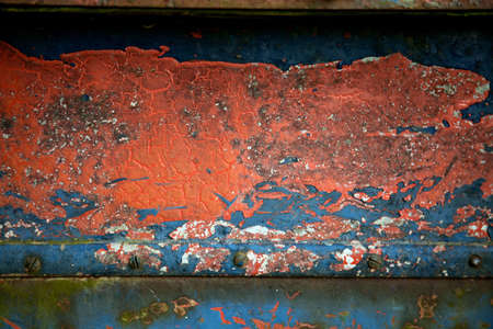 Detail of metal surface with old paint Stock Photo - 5290258