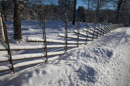 snowlandscape: Typical swedish fence in the winter time