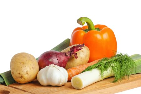 vegetables on a wooden kitchen board Stock Photo - 7684724