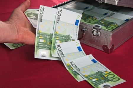 Metallic Fall voll von Euro  Lizenzfreie Bilder - 7684839