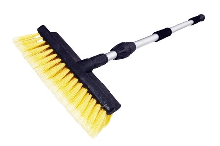 broom handle: Brush for washing with the long handle Stock Photo