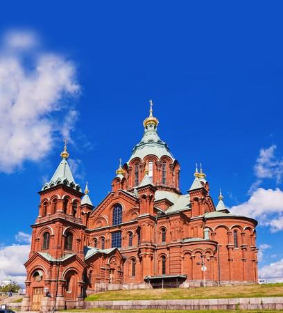 helsinki: Uspenski Cathedral, Helsinki, Finland Stock Photo