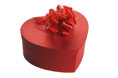 Gift box in the form of heart photo
