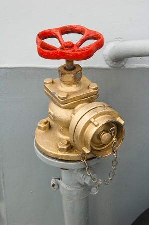 borne fontaine: prise d'eau Banque d'images