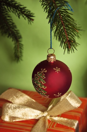 New Years and Christmas ornaments photo