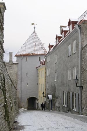 Street of city of Tallinn Stock Photo - 8632571