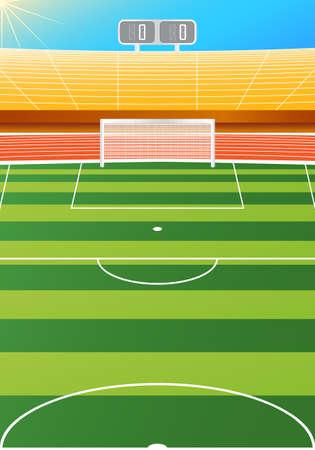 Soccer stadium, illustration Vector