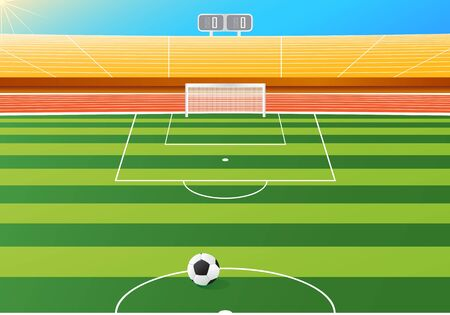 soccer stadium: Estadio de f�tbol, ilustraci�n