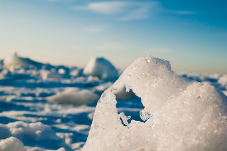 Ice hummocks photo