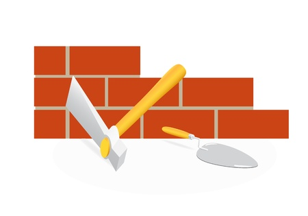 mason: The tool of the mason. A hammer and trowel