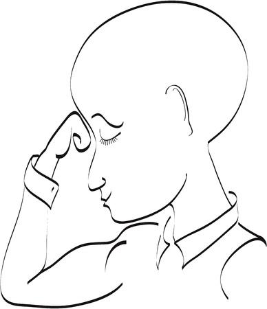 Man thinking Vector