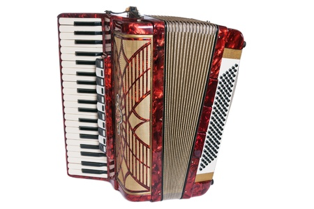 Accordion, it is isolated on white Standard-Bild