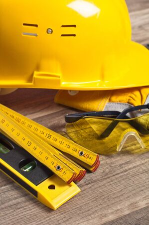 Standard construction safety equipment Stock Photo - 12632038
