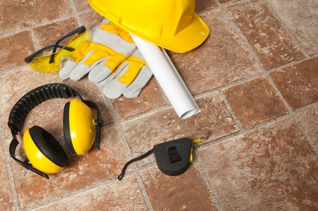 Standard construction safety equipment photo