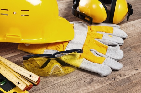 Standard construction safety equipment Stock Photo - 12880197