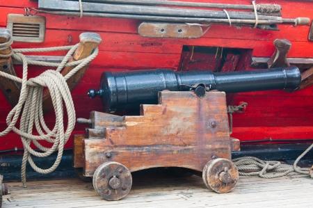 Small ancient ship gun Stock Photo - 13856381